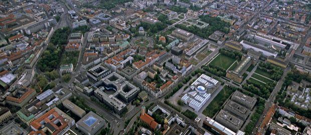 Kunstareal von oben, Foto: Jürgen Reichmann
