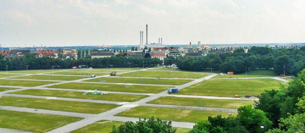 Theresienwiese Panorama Blick nach Süden, Foto: Constanze Groebmair