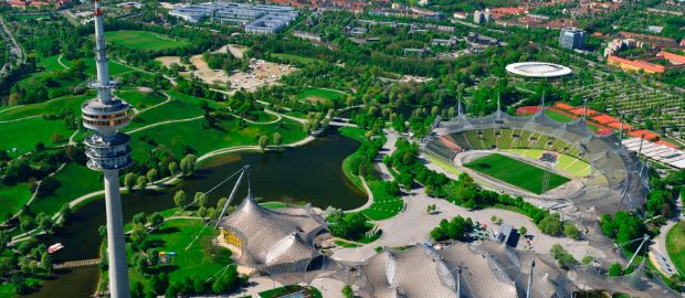 Luftbild vom Olympiapark, Foto: Olympiapark München