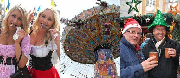 Bildcollage zu den Münchner Volksfesten und Märkten., Foto: Collage: muenchen.de