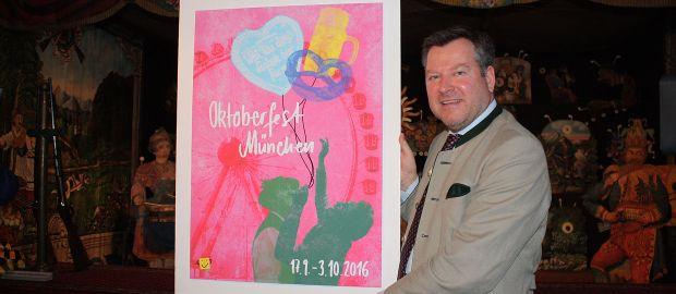 Wiesnplakat 2016: Vorstellung durch Bürgermeister Schmid, Foto: Leonie Liebich