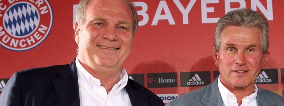 Uli Hoeneß und Jupp Heynckes sind auch privat befreundet, Foto: picture alliance / dpa