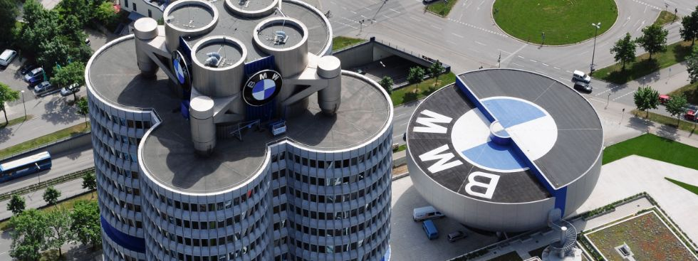 BMW Museum und Hochhaus von oben, Foto: BMW AG