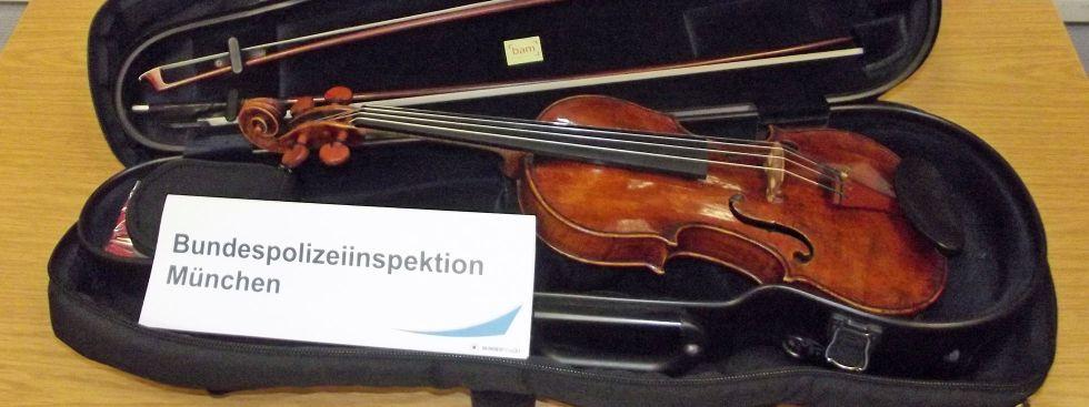 Wertvolle Landolfi-Geige wieder da, Foto: Bundespolizei München