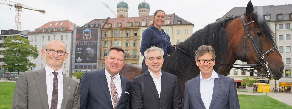 Markwardt, Josef Schmid, Apassionata-Reiterin Daphne de Visser, Peter Massine, Thomas Freiherr von Stenglin, Foto: muenchen.de/Vauelle