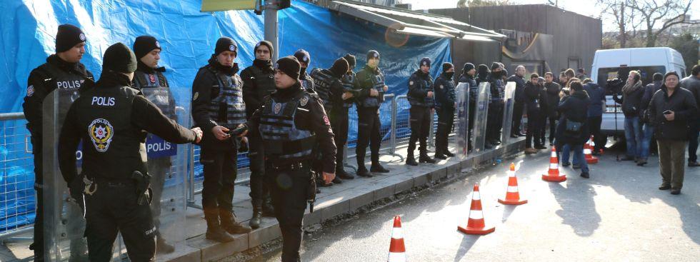 Türkische Polizei nach dem Anschlag in Istanbul., Foto: picture alliance/Kyodo