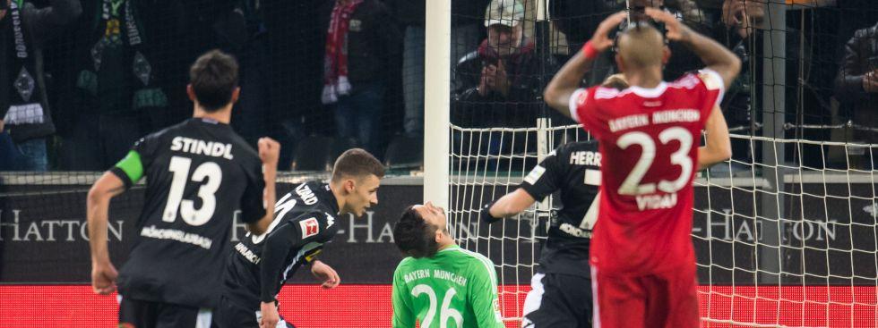 Der FC Bayern verliert gegen Gladbach, Foto: (c) dpa