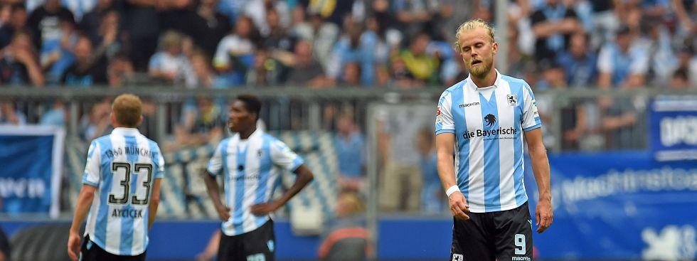 Enttäuschung bei den Löwen: Der TSV 1860 München steigt in die 3. Liga ab., Foto: dpa