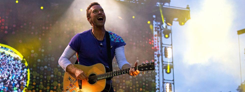 Coldplay im Olympiastadion München, Foto: Rico Güttich