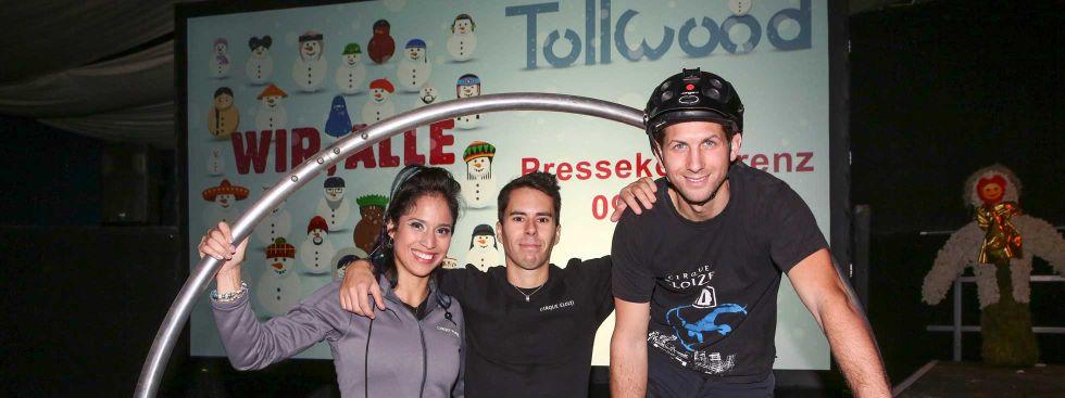 """Cirque Éloize """"iD"""" auf der Tollwood Pressekonferenz, Foto: Wackerbauer"""