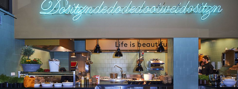 Küche Im Restaurant Neni, Foto: Markus Kehl