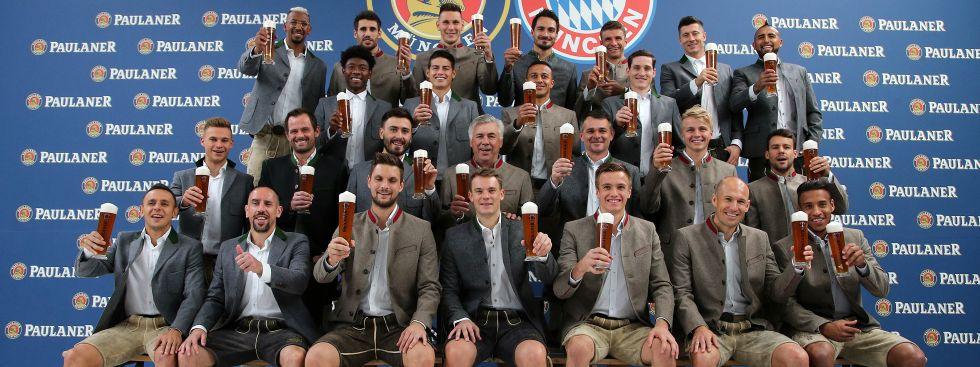 Lederhosenshooting des FC Bayern München, Foto: Paulaner Brauerei München