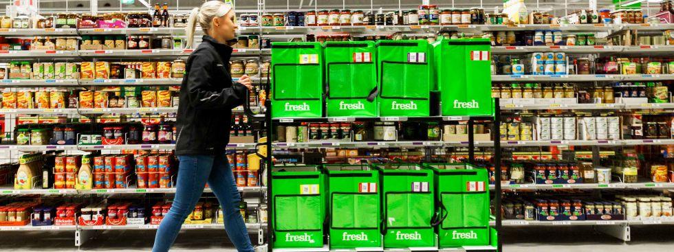 Lebensmittel im Depot von Amazon Fresh, Foto: Amazon