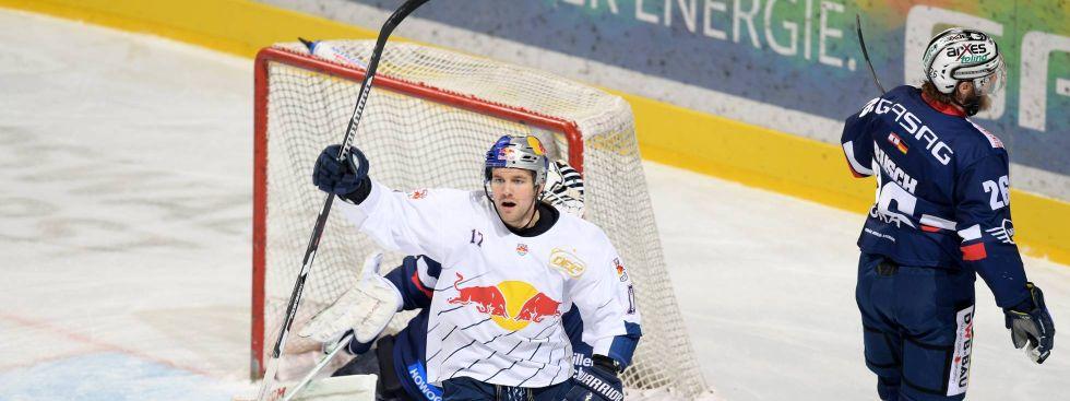 Spielszene EHC Red Bull München auswärts gegen die Eisbären Berlin am 27.1.2017, Foto: GEPA pictures