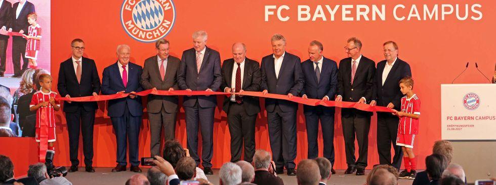 Eröffnung des FC Bayern Campus an der Ingolstädter Straße, Foto: Michael Nagy/Presseamt München