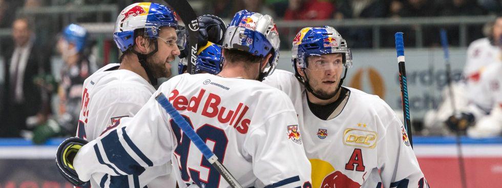 EHC gewinnt gegen Augsburg Panther, Foto: EHC Red Bull München