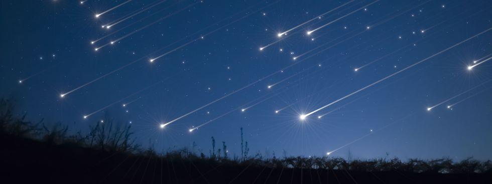 Ein Sternschnuppen-Regen.
