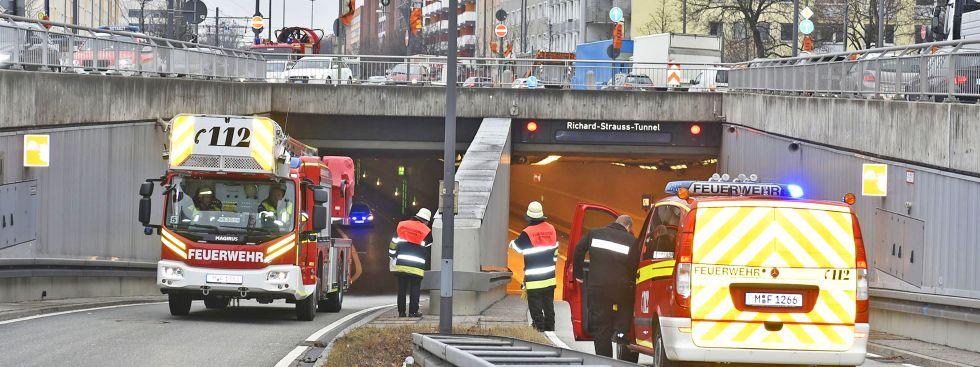 Feuerwehreinsatz im Richard-Strauss-Tunnel, Foto: Berufsfeuerwehr München