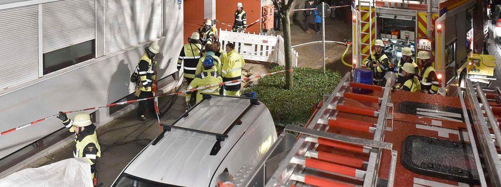 Einsatz der Münchner Feuerwehr nach einem Rohrbruch in der Klenzestraße am 5.1.2018, Foto: Berufsfeuerwehr München