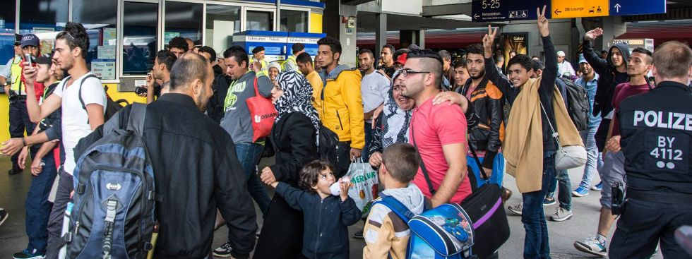 Flüchtlinge am Hauptbahnhof, Foto: muenchen.de/Michael Hofmann