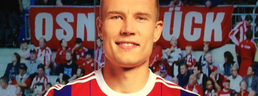 Aufsteller von Holger Badstuber in der FCB-Erlebniswelt., Foto: FC Bayern Erlebniswelt