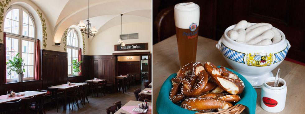 Weißwurstfrühstück in der Gaststätte Großmarkthalle, Foto: Photopraline