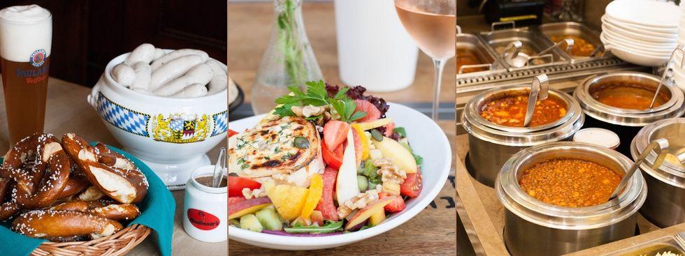 Mittagsgerichte in der Großmarkthalle, im Café ImmerSatt und in der Münchner Suppenküche, Foto: Photopraline