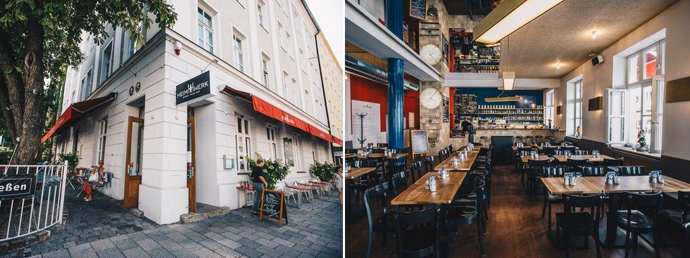 Restaurant Heimwerk von außen und innen, Foto: Lionman