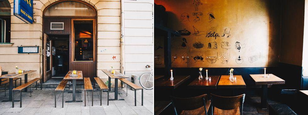 Restaurant Nage und Sauge von außen und innen, Foto: Lionman