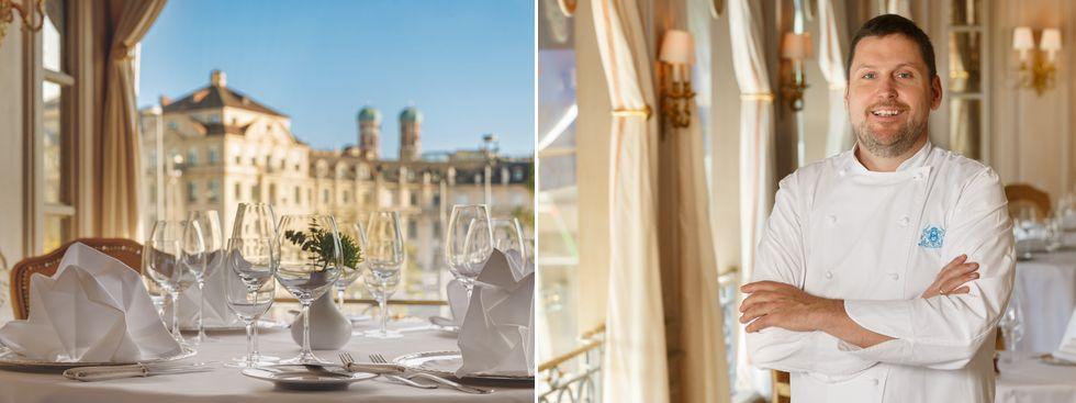 Restaurant Königshof von innen und Martin Faustner, Foto: Thomas Haberland / Julia Knorr