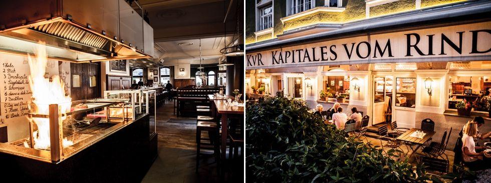 Restaurant KVR Kapitales vom Rind von außen und innen, Foto: Kapitales vom Rind / SHP Sebastian Hinklein Photography