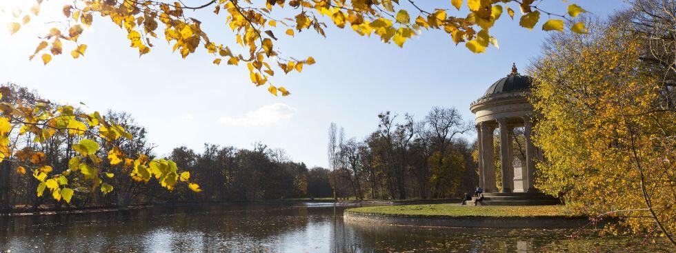 Der Nymphenburger Schlosspark im Herbst, Foto: muenchen.de/Katy Spichal