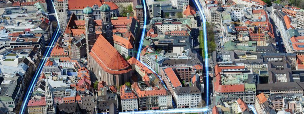 Glasfaserausbau in München, Foto: M-net