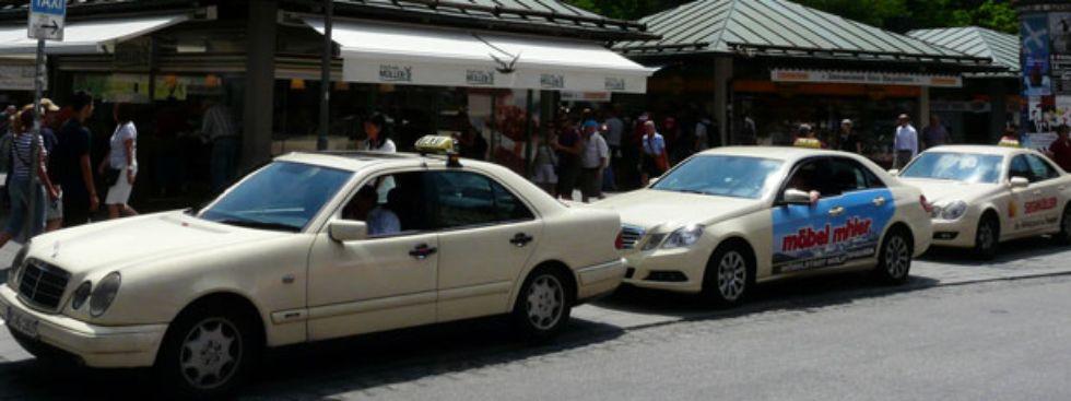 Taxis in der Münchner Innenstadt., Foto: muenchen.de