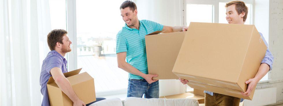 Studenten suchen Wohnung und ziehen um