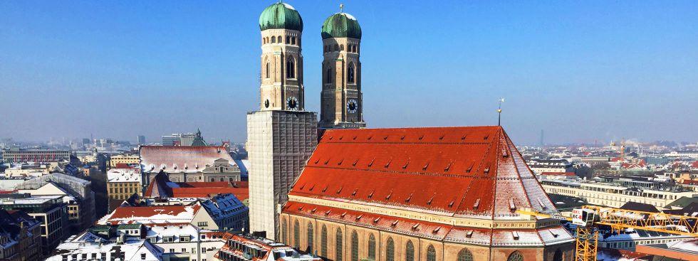 Frauenkirche im Winter, Foto: muenchen.de/Mark Read