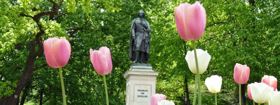 Das Schiller-Denkmal am Maximiliansplatz, Foto: muenchen.de/Mark Read