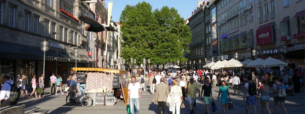 Die Fußgängerzone in der Neuhauser Straße, Foto: muenchen.de/Mark Read
