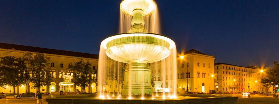 Abendstimmung am Geschwister-Scholl-Platz, Foto: Christian Scheiffele