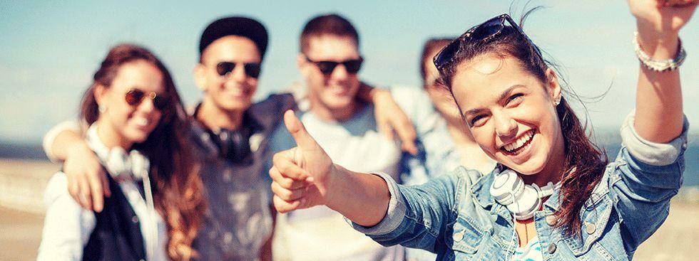 Gruppe Jugendlicher, Foto: M-net