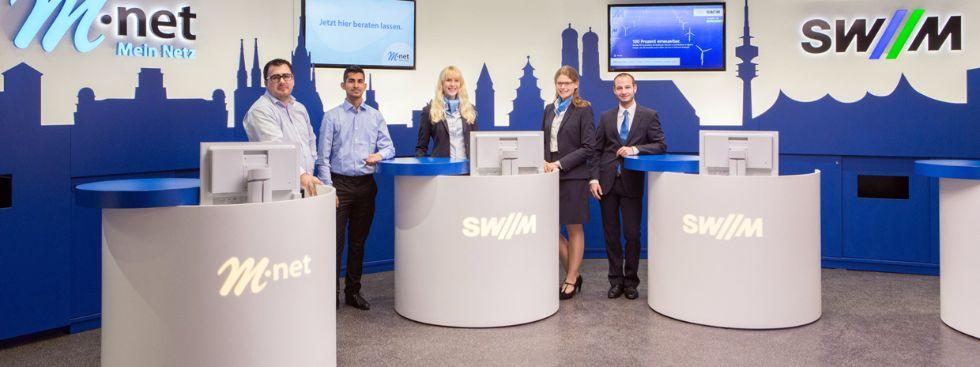 Der neue SWM und M-net Shop am Marienplatz., Foto: SWM