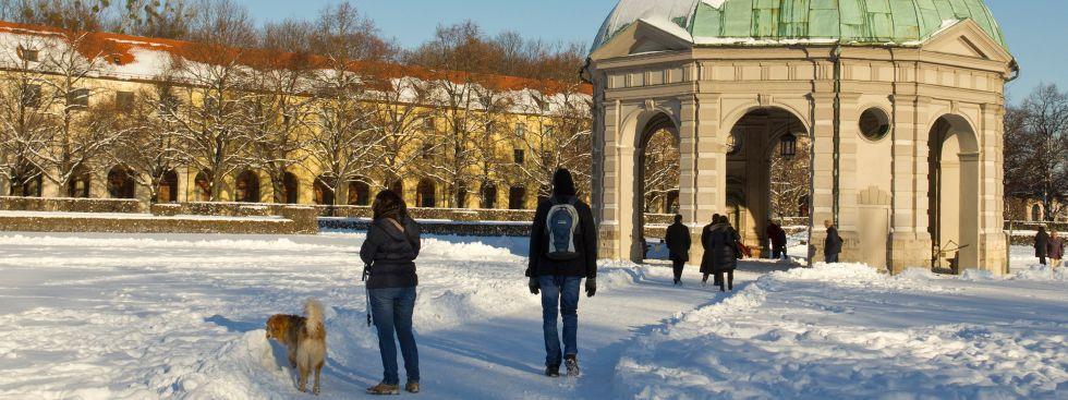 Der Hofgarten im Winter, Foto: muenchen.de/Katy Spichal
