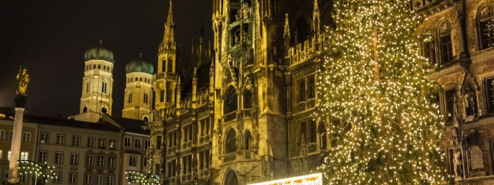 Christbaum in München auf dem Marienplatz, Foto: muenchen.de