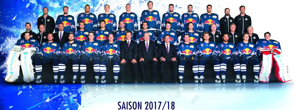 Kader des EHC Red Bull München 2017/8, Foto: Red Bull/GEPA Pictures
