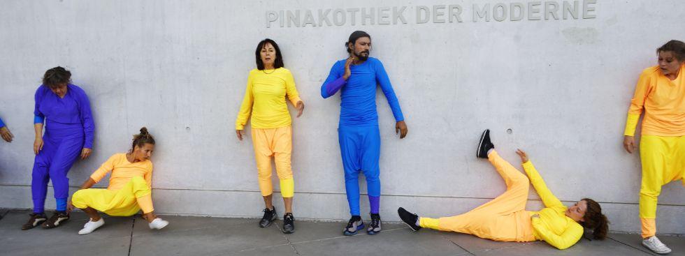 Flashmob bei Neue Pinakothek, Foto: muenchen.de/ Vauelle