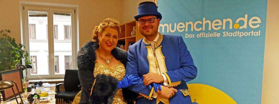 Besuch des Münchner Faschingsprinzenpaars bei muenchen.de, Foto: muenchen.de/Leonie Liebich