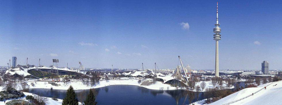 Winterpanorama vom Olympiapark, Foto: Olympiapark München