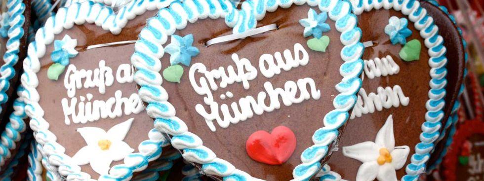 Lebkuchenherz: Gruß aus München, Foto: Leonie Liebich