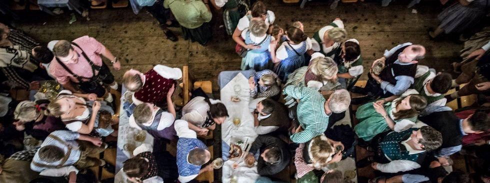 Festzelt auf dem Oktoberfest, Foto: Exithamster