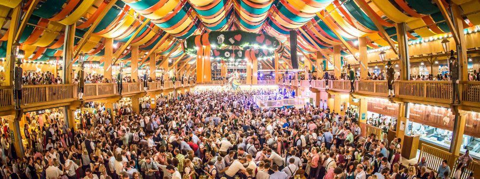 Festzelt auf dem Oktoberfest Foto Exithamster & Oktoberfest Beer tents
